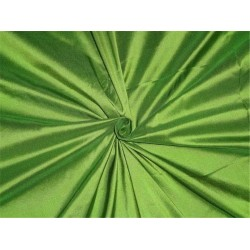PURE SILK DUPIONI FABRIC GREEN