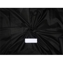 """100% PURE SILK DUPIONI LIGHT WEIGHT 16MOMME FABRIC 44"""" JET BLACK [ZARA] sold by the yard"""