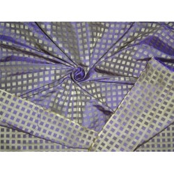 100% silk tafetta plaids lilac and light gold 1.15 yards TAFC53[6]