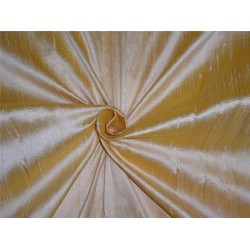 "100% PURE SILK DUPIONI FABRIC gold and sand 54"" mm81[5]"
