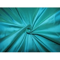 """100% Pure silk dupion kigfisher blue x green 54"""" DUP284  by the yard"""