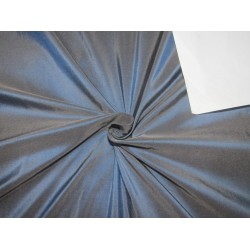 """100% Pure silk dupion iridescent navy x brown 54"""" DUP283  by the yard"""