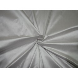"""100% Pure silk dupion white silver 54"""" DUP286  by the yard"""