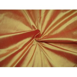 """100% Pure silk dupion golden yellow x red  54"""" DUP288[1]  by the yard"""