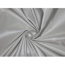 "100% Pure SILK TAFFETA FABRIC Dusty Blue 5.45 yards continuous 54"" wide"