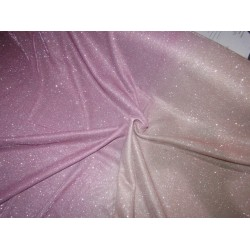 Ombre shimmer fabric lycra shaded pink x peach color 58''WIDE FF