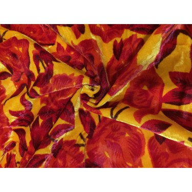 """PRINTED KNITTED VELVET FABRIC 58"""" WIDE 2 WAY STRETCH by the yard"""
