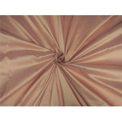 "100% pure silk dupioni fabric blush x light gold shot color 54"" DUP#B[6]"