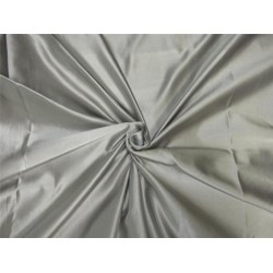 66 momme silk dutchess satin fabric Silver grey color 60''wide us8867