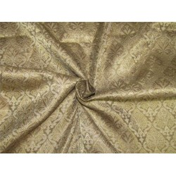 Brocade fabric brown x metallic gold color 44'' wide Bro624[4]