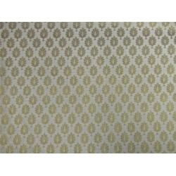 Brocade fabric ivory x metallic gold color 44'' wide Bro624[3]
