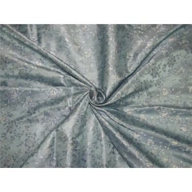 Brocade Fabric cool blue and silver color 44''wide bro 616[4]