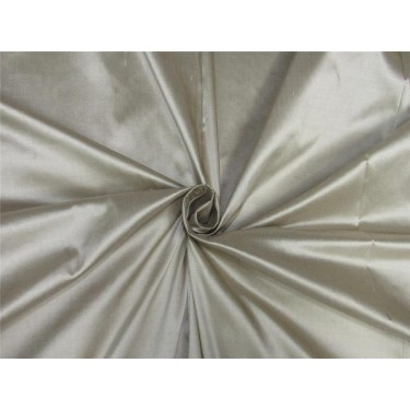 "100% pure silk Dupioni fabric beige x brown shot color 54"" wide DUP#D[4] sold by the yard"