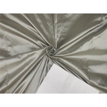 "100% pure silk dupioni fabric dusty grey color 54"" DUP#D[3]"