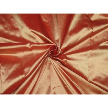 """100% pure silk dupioni fabric red x gold shot color 54"""" DUP#C[6]"""