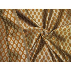 Reversible Brocade fabric brown x antique gold color 44'' wide bro629[5]