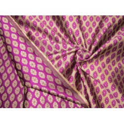 Reversible Brocade fabric purple x antique gold color 44'' wide bro629[4]