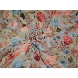 """100%SILK georgette heavily embroidered 44"""" B2#89[1]"""