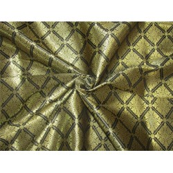 silk brocade fabric black x metallic gold 44''wide bro617[2]