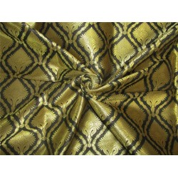 silk brocade fabric black x metallic gold 44'' bro617[1]