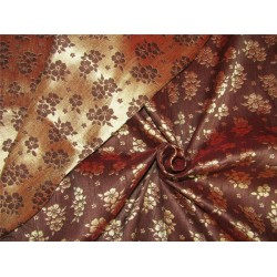 "Reversible Brocade fabric iridescent brown x gold color 56""wide Bro622[2]"