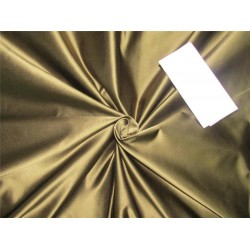 66 momme silk dutchess satin fabric dark green x  brown color 54''wide