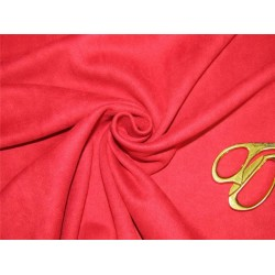 """Scuba Suede Knit fabric 59"""" wide- fashion wear deep red color #20"""