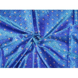 Brocade fabric blue/purple x metallic gold color 44'' wide Bro626[4]