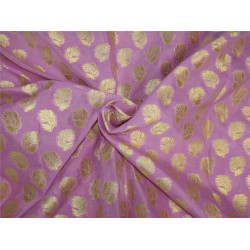 Brocade fabric lavender x metallic gold color 44'' wide Bro625[4]