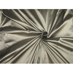 "100% pure silk dupioni fabric black x grey color 54"" DUP#A[5]"