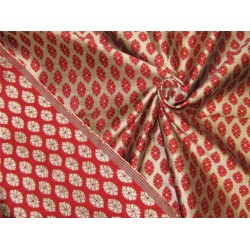 Reversible Brocade fabric red x antique gold color 44'' wide bro629[3]