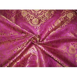 Brocade fabric purple x metallic gold color 44'' wide bro628[1]