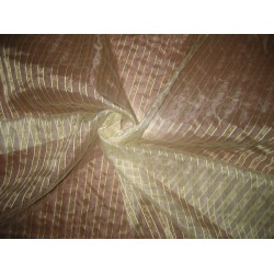 Jacquard silk Organza fabric Metallic Gold mettalic stripes
