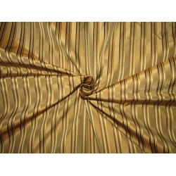 """100%Silk Taffeta Fabric golden brown with  satin stripes TAFS166 54"""" wide sold by the yard"""