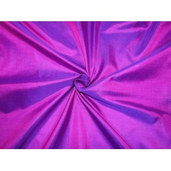 "Pure Silk Fabric, GSM: 50 Gram MARY ANN Red xl Blue 44""by the yard"