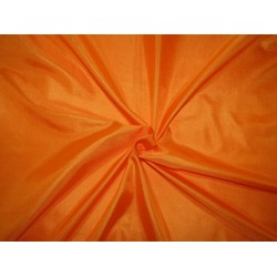 "Pure Silk Fabric, GSM: 50 Gram MARY ANN  orange 44""by the yard"
