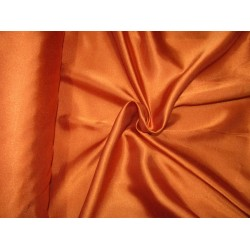 "Orange Tan  viscose modal satin weave fabrics 44"" wide"