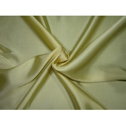 "Pale Yellow  viscose modal satin weave fabrics 44"" wide"