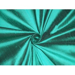 Pure SILK DUPIONI FABRIC Green x Black colour sold by the yard