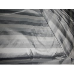 silver grey/ grey/white Colour stripe~ Dupioni fabric  DUP#S24