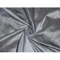 """Pure SILK Dupioni FABRIC Greyish Silver with Blue shot color 54"""""""