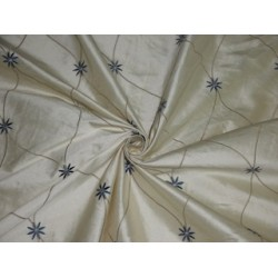 SILK DUPIONI Cream color with EMBROIDERY DUPE19