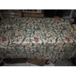 Cotton fabric with Kashmiri embroidery~1 meter piece