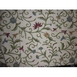 Cotton fabric with Kashmiri embroidery