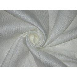 100% LINEN FABRIC with Ivory color with Jacquard
