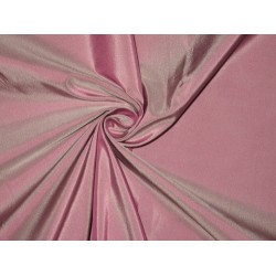 100% Pure SILK TAFFETA FABRIC Pink x ivory shot 2.61 yards continuous piece 54""