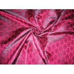 Silk Brocade fabric Indian Pink & Purple 44""