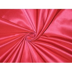 "100% Pure SILK TAFFETA FABRIC Red x Pink 3.81 yards continuous piece 60"" width"
