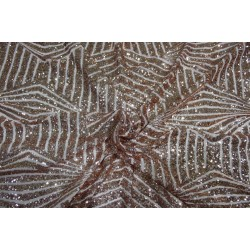 GOLD Lycra  Net Fabric with   gold  color SEQUENCE  58'' Wide FF19[2]