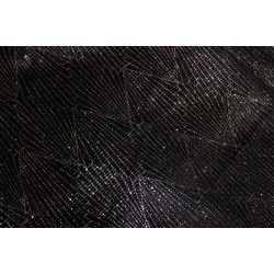 BLACK Lycra multi color shimmer fabric 58''wide  FF21 BY THE YARD